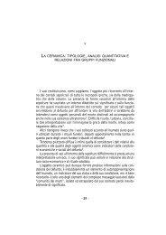 tipologie, analisi quantitativa e relazioni fra gruppi funzionali