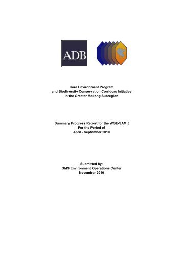 CEP-BCI_progress_report_291110 - Greater Mekong Subregion ...