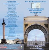 Nordic – Baltic Society of Infectious Diseases 8th NORDIC – BALTIC ...