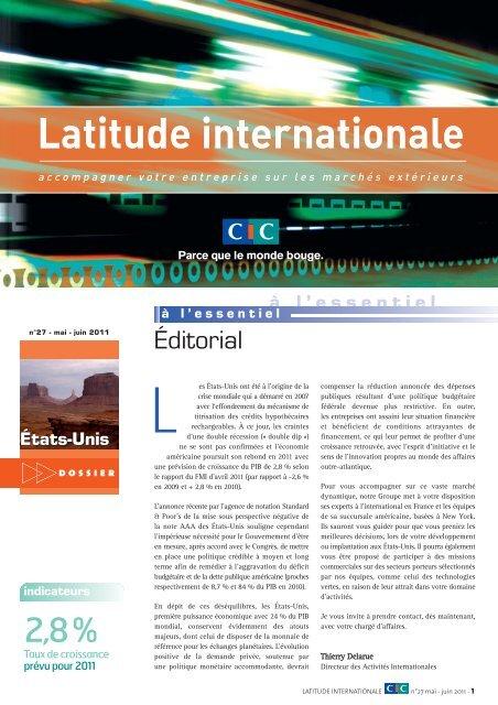 Latitude Internationale n°27 - CIC