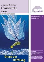 Dezember 2011 bis Februar 2012 (Gemeindebrief #18)
