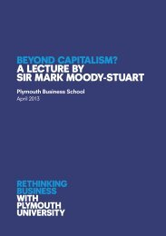 Download a .pdf of Sir Mark Moody Stuart's full Beyond ... - Plymouth