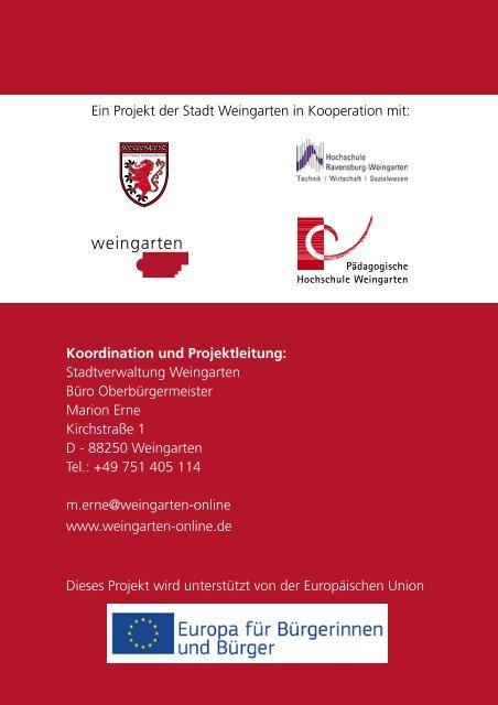 Flyer / Programm - Stadt Weingarten