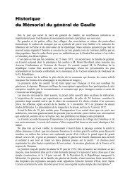 Historique du Mémorial du général de Gaulle