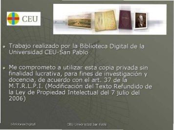+ Trabaje realizada per la Biblieteca Digital de la - DSpace CEU