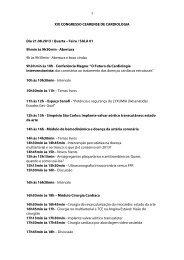 XIX CONGRESSO CEARENSE DE CARDIOLOGIA Dia 21.08.2013 ...