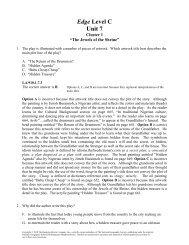 Edge Level C Unit 7 - Division of Language Arts/Reading