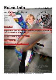 Eulen-Info Nr. 1 / SS 2005 - Fachschaft Physik