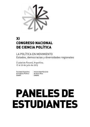 XI CONGRESO NACIONAL DE CIENCIA POLÍTICA - Sociedad ...