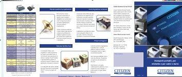 Stampanti portatili, per etichette e per codici a barre - Tecno Sistem