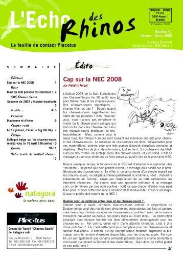 Echo des Rhinos 47 - Natagora