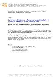 Mandat pour cause d'inaptitude » et « directives anticipées »