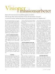 Visioner i missionsarbetet - Till Liv