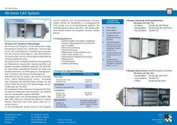 HS-Vario CAT System - HS Luftfilterbau GmbH