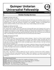 October 2008 - Quimper Unitarian Universalist Fellowship