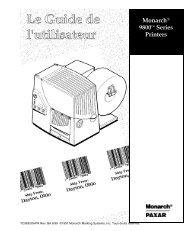 mode d'emploi imprimantes Monarch 9820 9830 - Gomaro