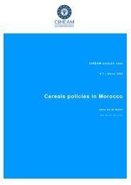 Cereals policies in Morocco - Mot de passe…
