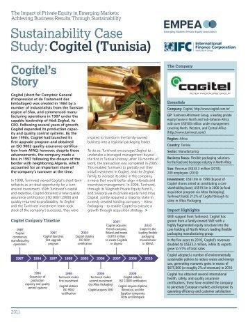 Sustainability Case Study:Cogitel (Tunisia) - IFC