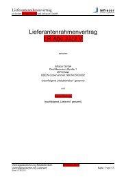 Lieferantenrahmenvertrag LR.Abc.JJJJ.V - Infracor GmbH