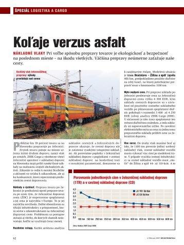 Koľaje versus asfalt - ZSSK Cargo