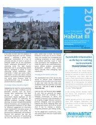 Habitat III - Partners consultation No 1 - UCLG
