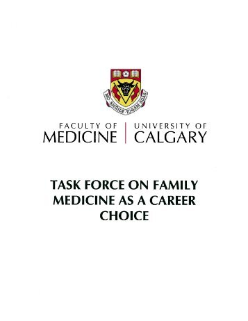 Task Force on Family Medicine as a Career Choice - The College of ...
