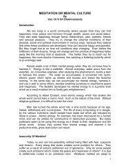 MEDITATION OR MENTAL CULTURE - Ven Dr K Sri Dhammananda