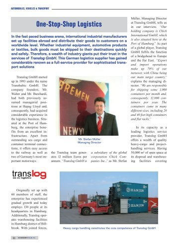 One-Stop-Shop Logistics - Translog GmbH