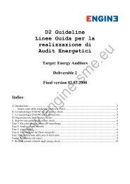 D2 Guideline Linee Guida per la realizzazione di ... - Engine-sme.eu