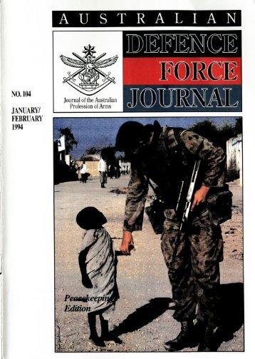 ISSUE 104 : Jan/Feb - 1994 - Australian Defence Force Journal