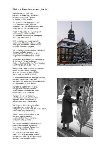 Weihnachten damals und heute - Grabow-Erinnerungen