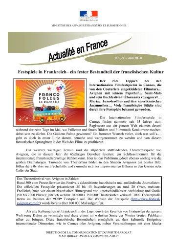 Festspiele in Frankreich– ein fester Bestandteil der französischen ...