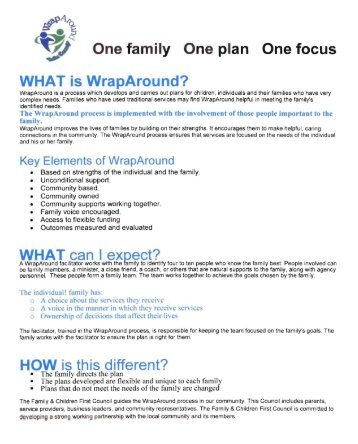 What is Wraparound? (PDF, 1MB) - Erie County, Ohio