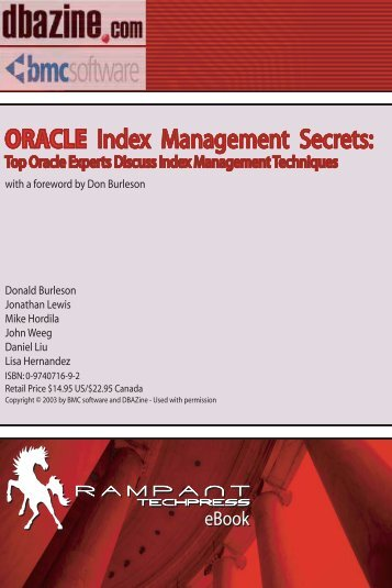 Oracle Index Management Secrets: Top Oracle Experts Discuss ...