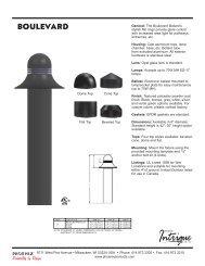 Boulevard Bollard Spec Sheet.indd - Phoenix Products