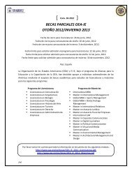 BECAS PARCIALES OEA-IE OTOÑO 2012/INVIERNO 2013 - Ifarhu