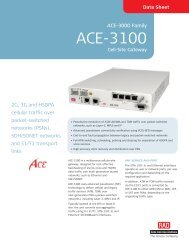 ACE-3100 - RAD TÜRKİYE Data Communications