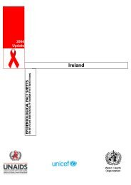 Ireland : epidemiological fact sheets on HIV/AIDS and ... - unaids