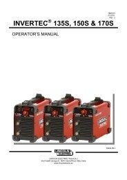 invertec 135s, 150s & 170s - Rapid Welding and Industrial Supplies ...