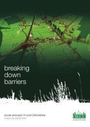 breaking down barriers - Oxfordshire Rural Community Council