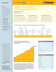 Pennsylvania Tax Exempt Income Fact Sheet - Putnam Investments