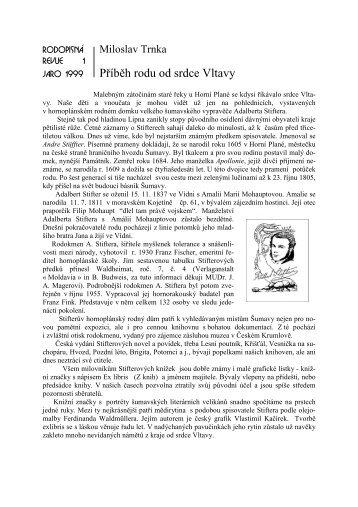Příběh rodu od srdce Vltavy - rodopisna-revue-online