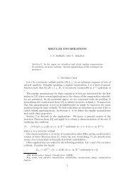 Regular Enumerations