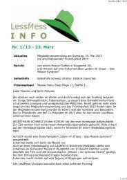 LessMess Info 1/2013