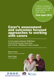 Carer's assessment and outcomes focused approaches to working ...