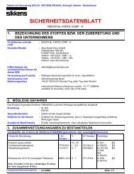 Sicherheitsdatenblatt Komponente A - Sikkens Shop