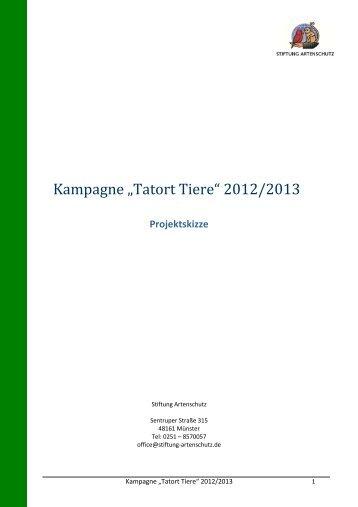 """Kampagne """"Tatort Tiere"""" - Deutscher-Wildgehege-Verband eV"""