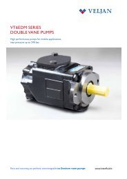 VT6EDM SERIES DOUBLE VANE PUMPS
