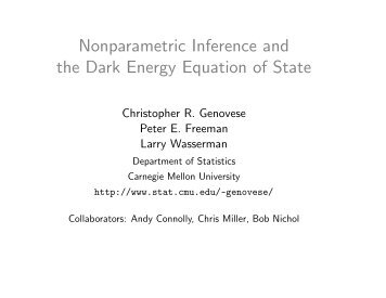 Nonparametric Inference and the Dark Energy Equation of State