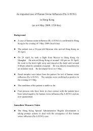 An imported case of Human Swine Influenza (Flu A H1N1) in Hong ...